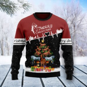 Horse Christmas Tree T Ugly Christmas Sweater
