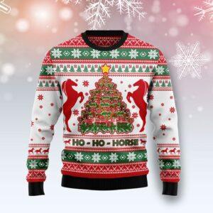 Horse Christmas Tree Ugly Christmas Sweater