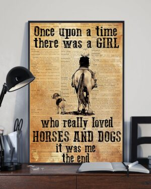 Horse Girl   There Was A Girl Who Loved Horses Poster