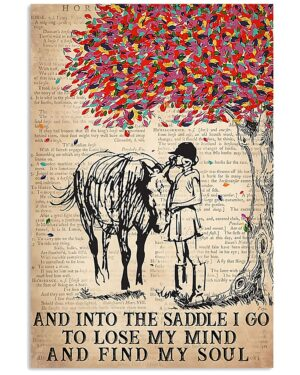 Horse Girl Into The Saddle I Go Poster