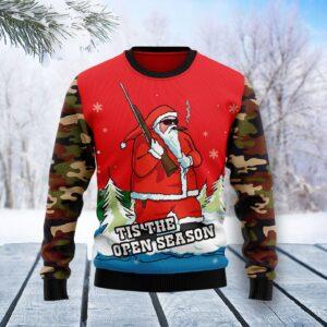 Hunting Santa Christmas Ugly Christmas Sweater