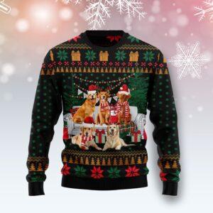 I Am Ready For Christmas Golden Retriever Ugly Christmas Sweater