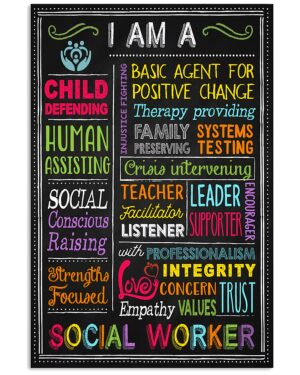 I Am A Social Worker Poster