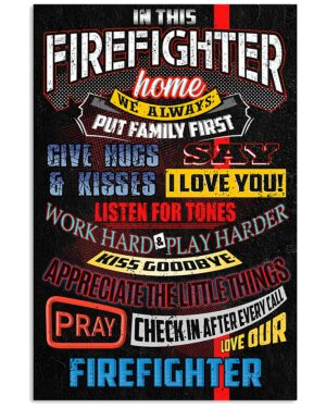 In This Firefighter Home Poster