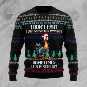 It's Scream Chicken Ugly Christmas Sweater