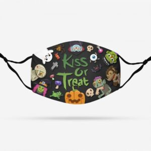 KISS OR TREAT HALLOWEEN PATTERN Face Mask