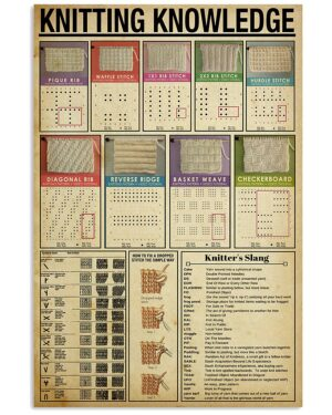 Knowledge Knitting Sewing Poster