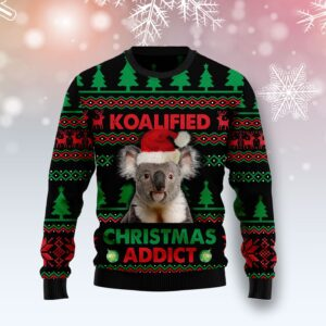 Koala Koalified Christmas Addict Ugly Christmas Sweater