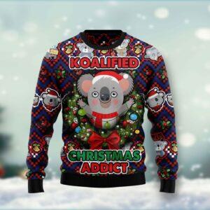 Koalified Christmas Addict Ugly Christmas Sweater