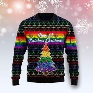 LGBT Rainbow Ugly Christmas Sweater