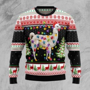 Llama Hit That Ugly Christmas Sweater