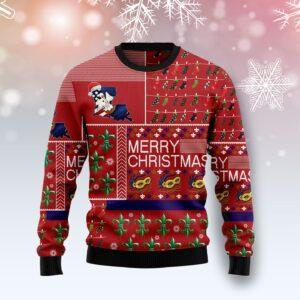 Louisiana Merry Christmas Ugly Christmas Sweater