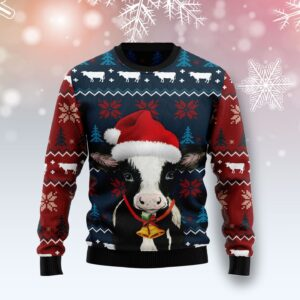 Lovely Cow Ugly Christmas Sweater