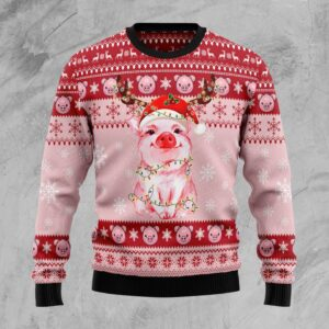 Lovely Pig Ugly Christmas Sweater