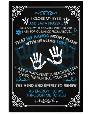 Massage Therapist Say A Prayer Poster