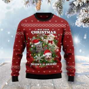 May Your Christmas Be Meowy & Bright Ugly Christmas Sweater