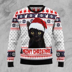 Meowy Christmas   Ugly Christmas Sweater