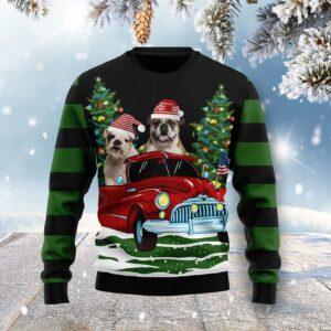 Merry Christmas Bulldog Ugly Christmas Sweater