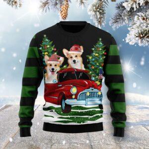 Merry Christmas Pembroke Welsh Corgi Ugly Christmas Sweater