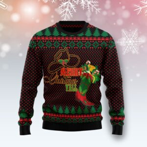 Merry Christmas Y'All Cowboy Boot Ugly Christmas Sweater