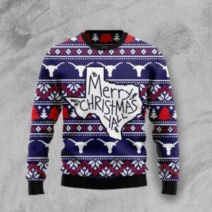 Merry Christmas Ya'll Ugly Christmas Sweater