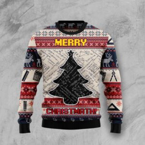 Merry Christmath HT Ugly Christmas Sweater
