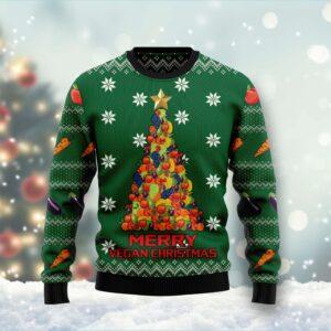 Merry Vegan Christmas Ugly Christmas Sweater