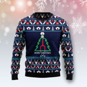 Nurse Christmas Tree Ugly Christmas Sweater
