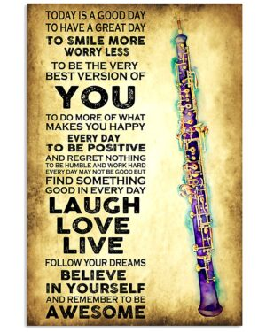Oboe   Today Is A Good Day Poster