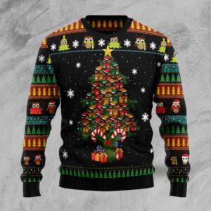 Owl Christmas Tree Ugly Christmas Sweater