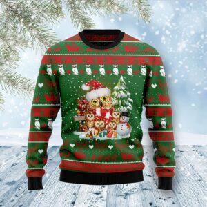 Owl Family Ugly Christmas Sweater