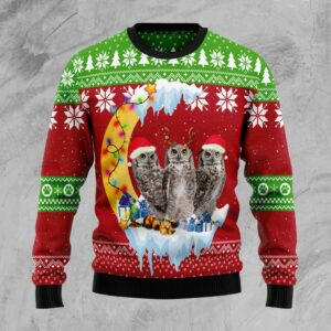 Owl Love Moon Xmas Ugly Christmas Sweater