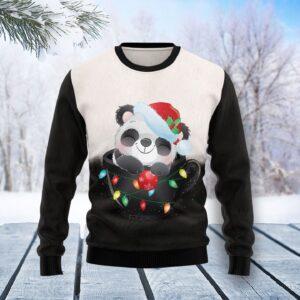 Panda Cup Ugly Christmas Sweater