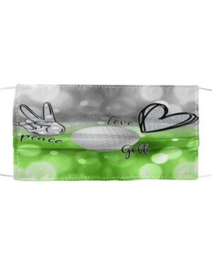 Peace Love Golf Cloth Mask
