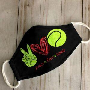 Peace Love Tennis Face Mask