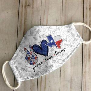 Peace Love Texas Face Mask Ver A