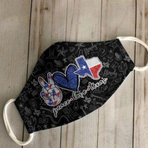 Peace Love Texas Face Mask Ver B