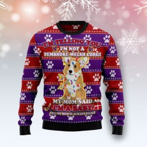 Pembroke Welsh Corgi Baby Christmas Ugly Christmas Sweater
