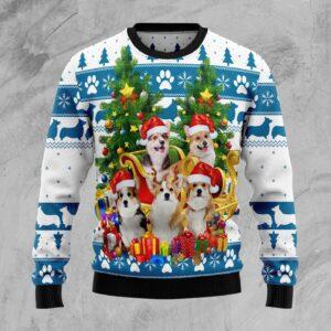 Pembroke Welsh Corgi Greeting Ugly Christmas Sweater