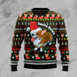 Pembroke Welsh Corgi Paws Ugly Christmas Sweater