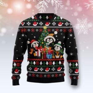 Penguin Christmas Tree Ugly Christmas Sweater