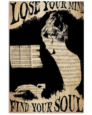 Piano Lose Your Mind Find Your Soul Poster