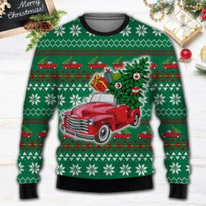 Pickup Truck All Over Print Ugly Christmas Sweater