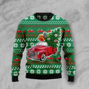 Pickup Truck Ugly Christmas Sweater