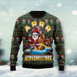 Pirate Santa Tacky Xmas Ar Ugly Christmas Sweater