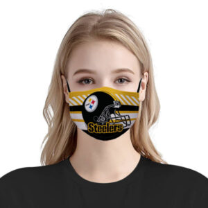 Pittsburgh Steelers NFL Face Mask Antibacterial Fabric