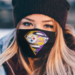 Pittsburgh Steelers And Los Angeles Lakers Supermans Cloth Face Mask
