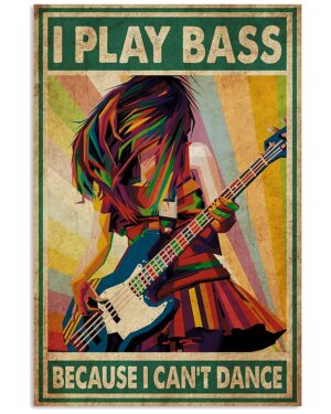 Play Bass Guitar Poster