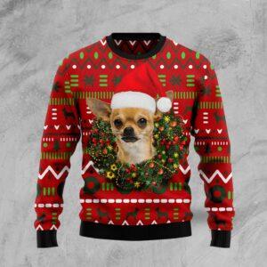 Playful Chihuahua Merry Christmas Ugly Christmas Sweater