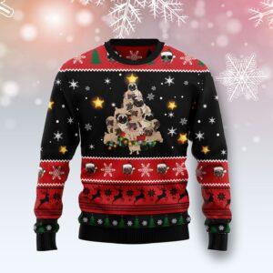 Pug Christmas Tree Ugly Christmas Sweater